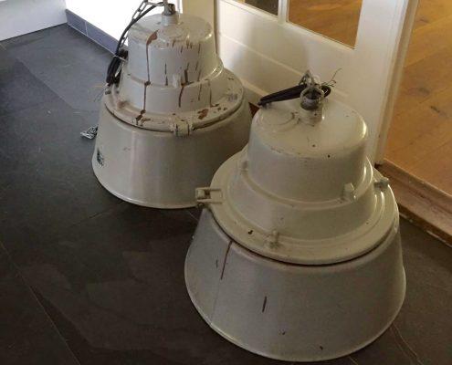 Installatie industriële lampen